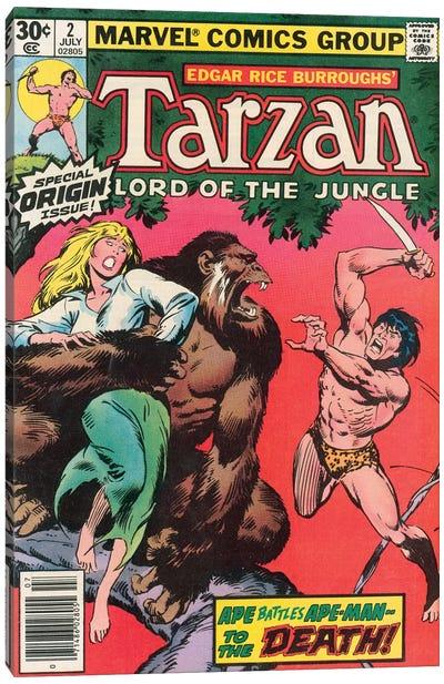 Tarzan Comic Cover #2 Canvas Art Print