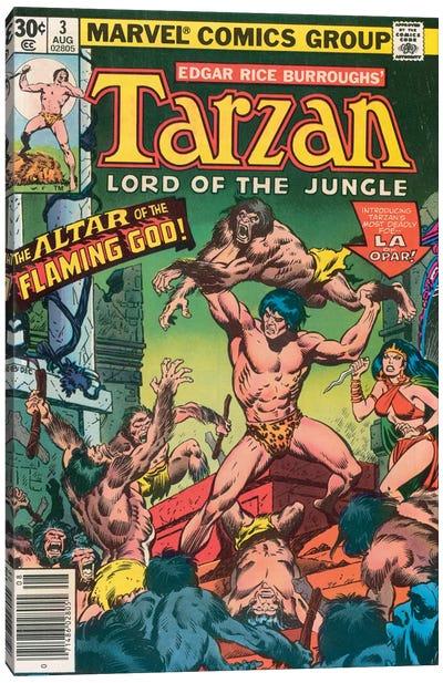 Tarzan Comic Cover #3 Canvas Art Print