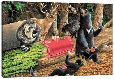 Bear Wine Canvas Art Print