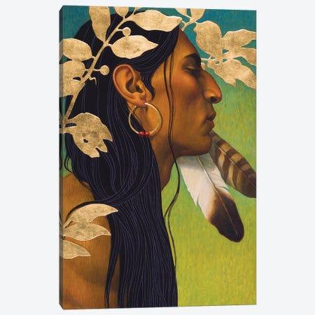 Golden Leaves Canvas Print #BSH14} by Thomas Blackshear II Canvas Artwork