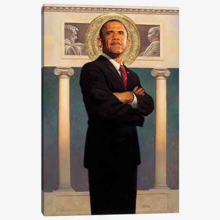 President Obama Canvas Print #BSH1} by Thomas Blackshear II Canvas Art Print