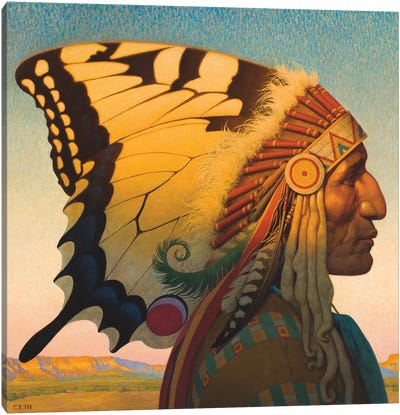 Native American Nouveau Canvas Art Print