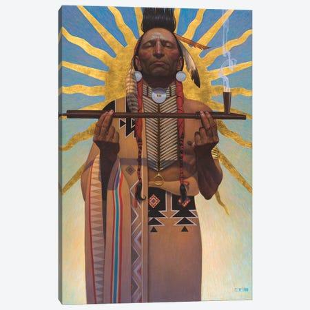 Peace Pipe Canvas Print #BSH22} by Thomas Blackshear II Canvas Art