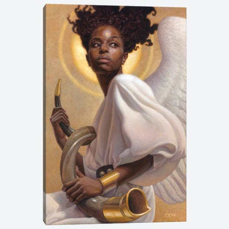 Preparing To Sound The Alarm Canvas Print #BSH23} by Thomas Blackshear II Canvas Wall Art