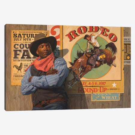 Rodeo Poster Canvas Print #BSH24} by Thomas Blackshear II Canvas Art Print