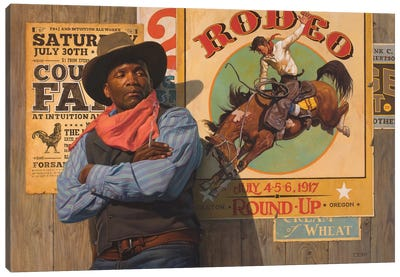Rodeo Poster Canvas Art Print