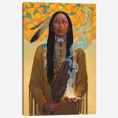 Sacred Smoke Canvas Print #BSH25} by Thomas Blackshear II Canvas Print