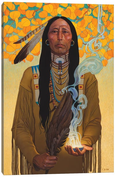 Sacred Smoke Canvas Art Print