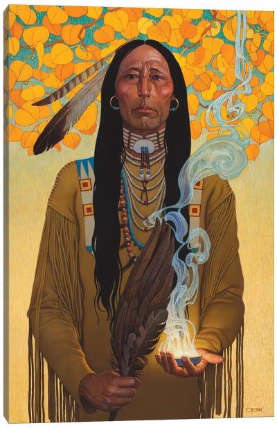 Sacred Smoke Canvas Art Print