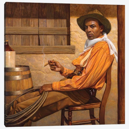 Texas Chillin Canvas Print #BSH28} by Thomas Blackshear II Canvas Art