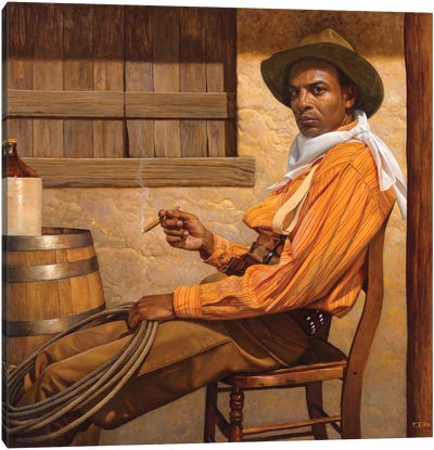 Texas Chillin Canvas Art Print