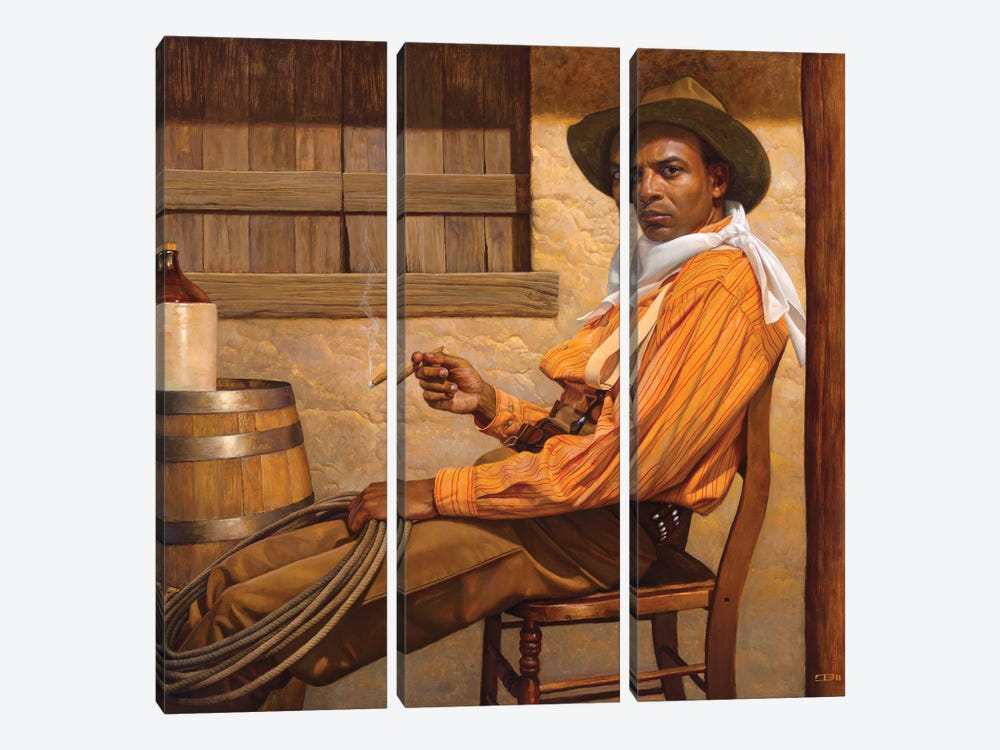 Texas Chillin by Thomas Blackshear II 3-piece Canvas Art Print