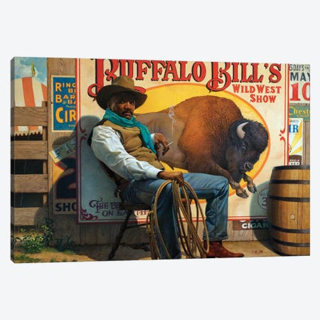 Wild West Show Canvas Print #BSH32} by Thomas Blackshear II Canvas Print