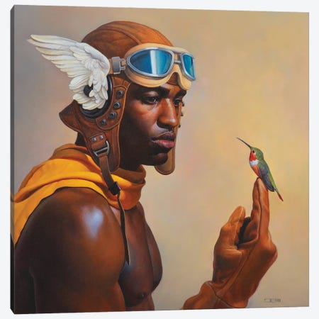 Airmans Inspiration Canvas Print #BSH38} by Thomas Blackshear II Art Print