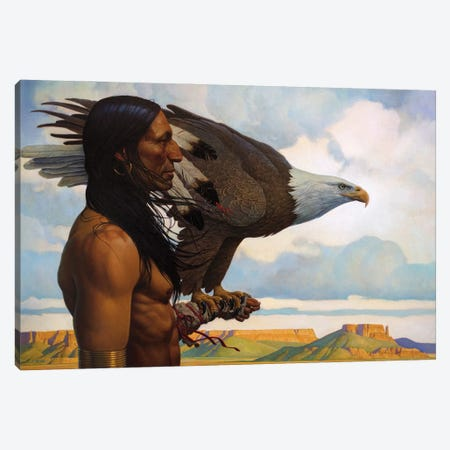 Brother Eagle Canvas Print #BSH5} by Thomas Blackshear II Canvas Artwork