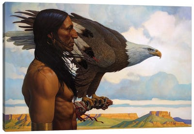 Brother Eagle Canvas Art Print