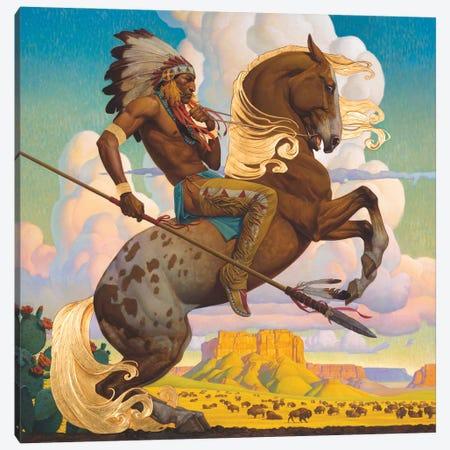 Buffalo Hunt Canvas Print #BSH6} by Thomas Blackshear II Canvas Art