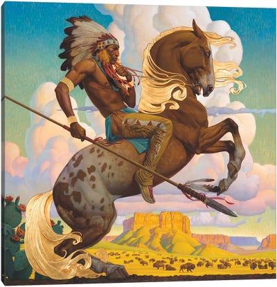 Buffalo Hunt Canvas Art Print