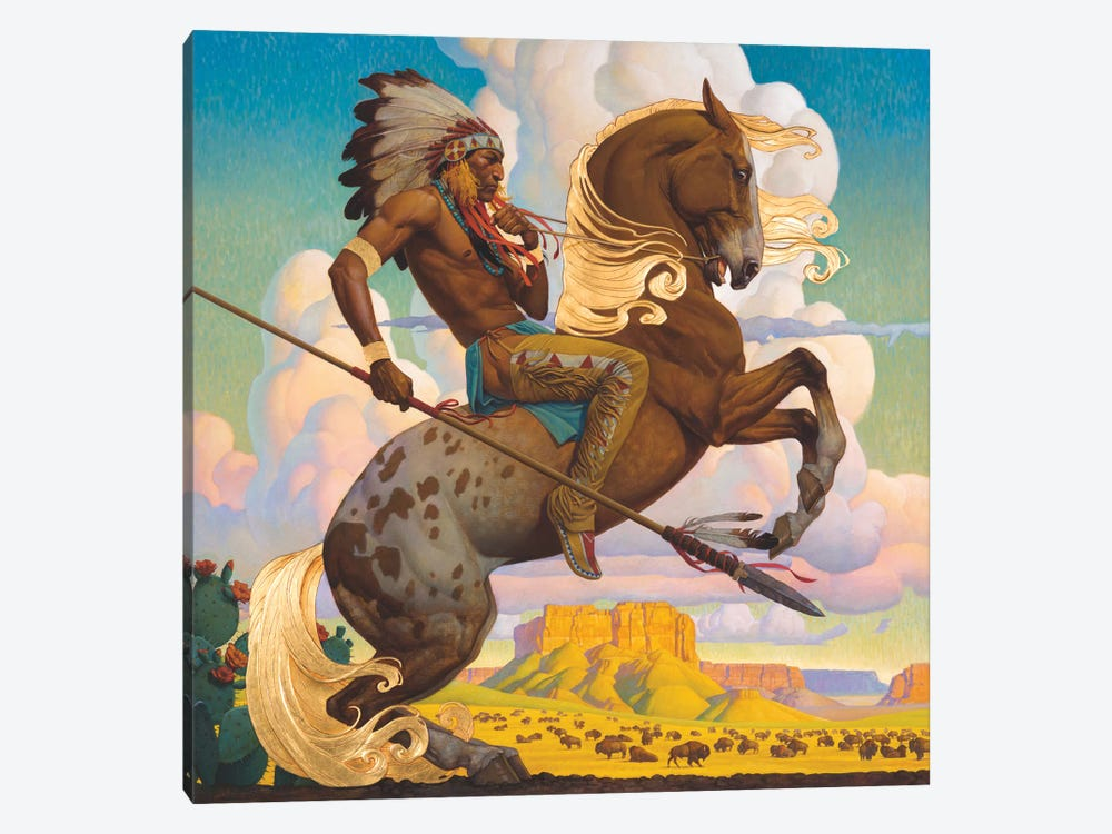 Buffalo Hunt by Thomas Blackshear II 1-piece Canvas Wall Art