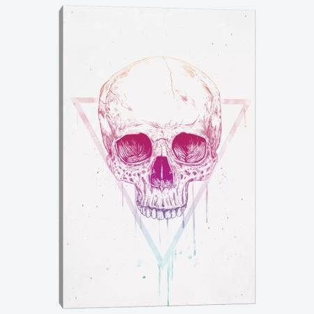 Skull In Triangle Canvas Print #BSI101} by Balazs Solti Canvas Print