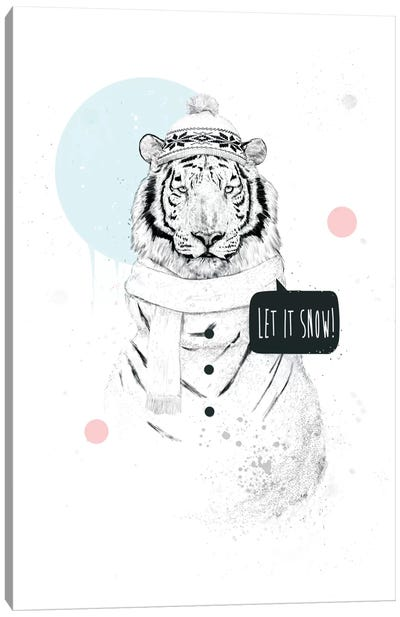 Snow Tiger Canvas Art Print