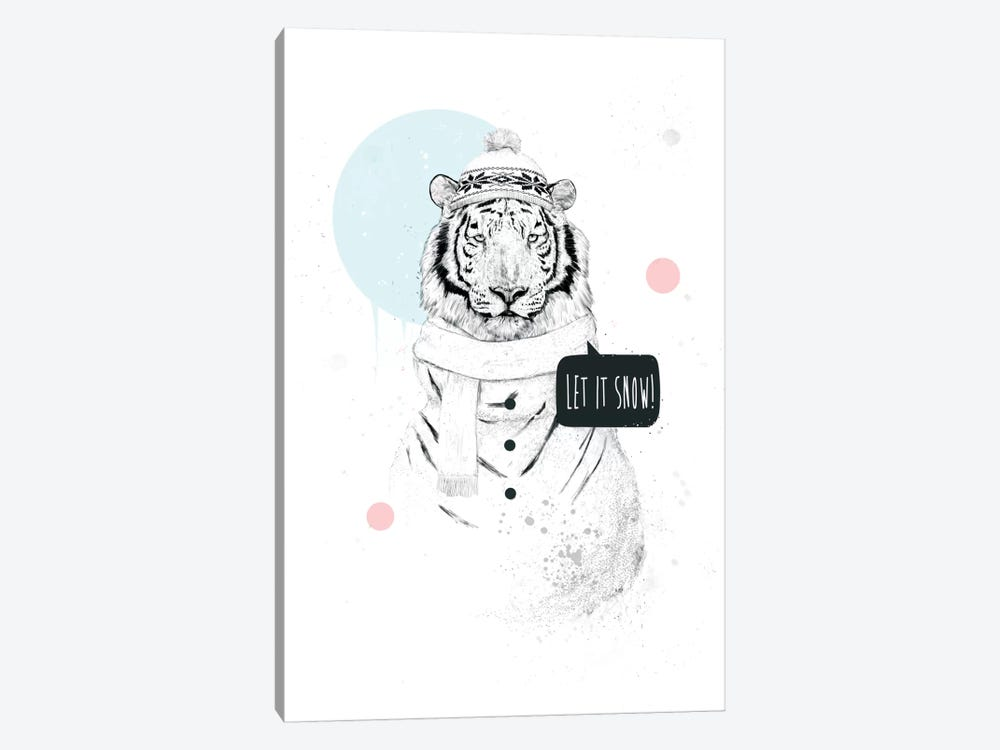 Snow Tiger by Balazs Solti 1-piece Canvas Wall Art