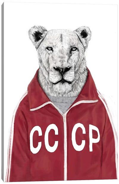 Soviet Lion Canvas Print #BSI104