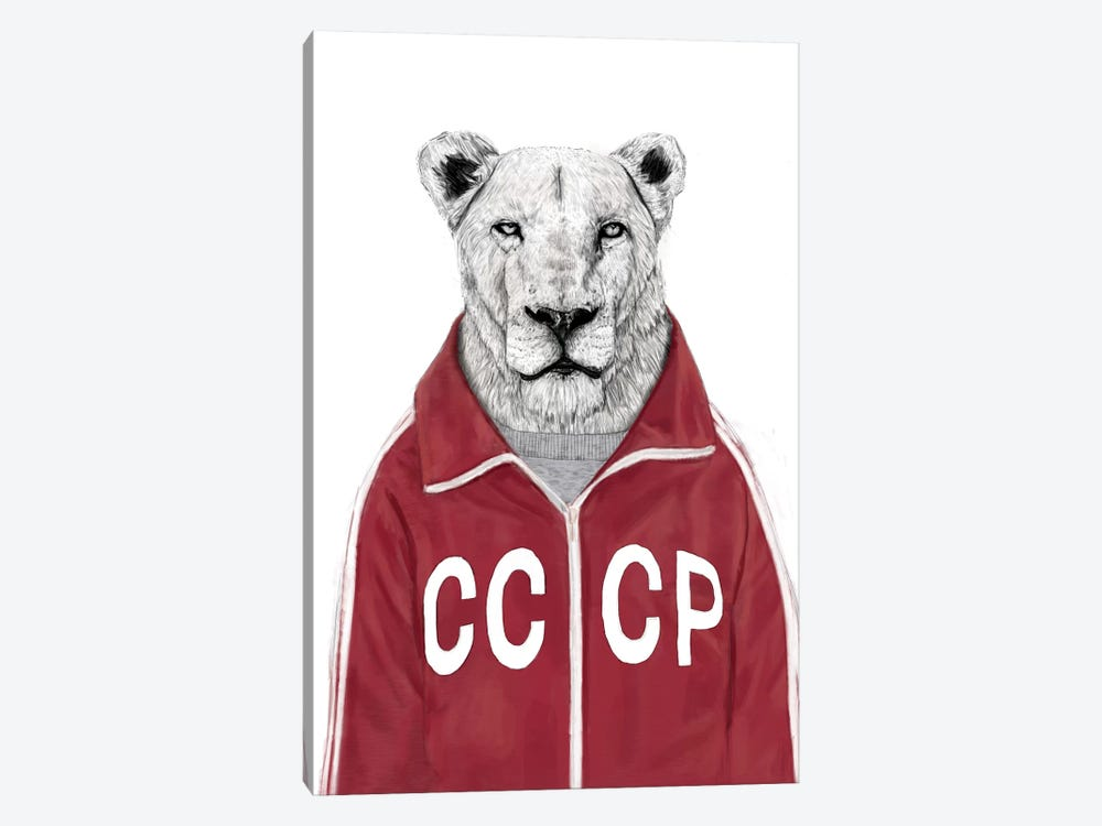 Soviet Lion by Balazs Solti 1-piece Canvas Print