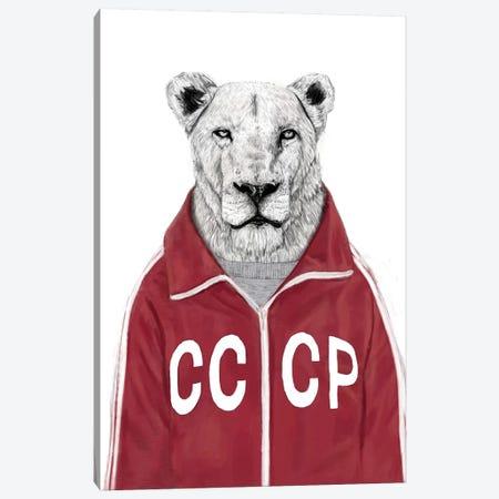 Soviet Lion Canvas Print #BSI104} by Balazs Solti Canvas Artwork