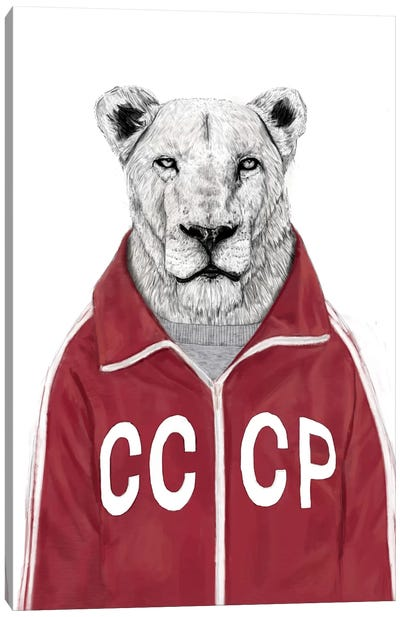 Soviet Lion Canvas Art Print