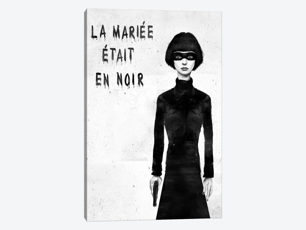 The Bride Wore Black by Balazs Solti 1-piece Canvas Artwork