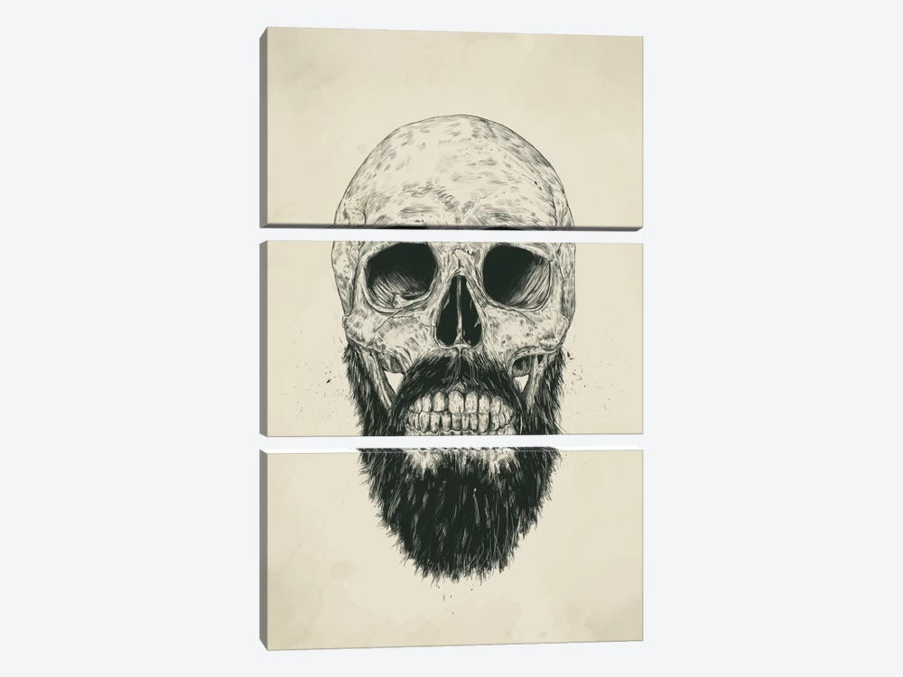 The Beard Is Not Dead by Balazs Solti 3-piece Canvas Print