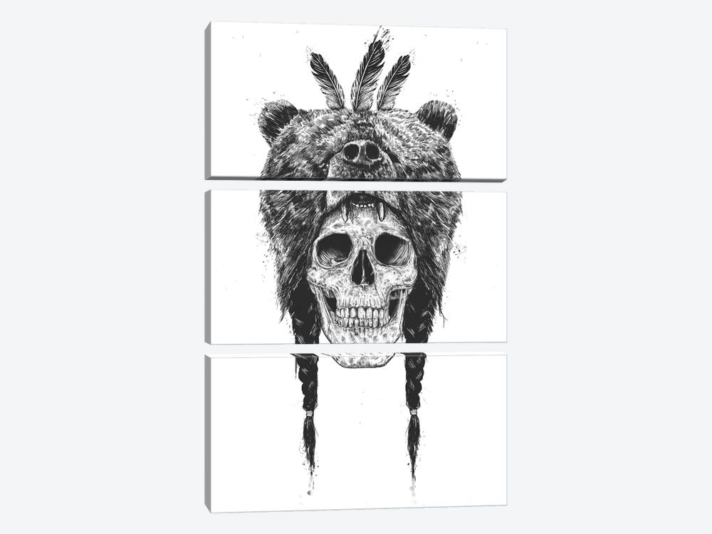 Dead Shaman by Balazs Solti 3-piece Canvas Print