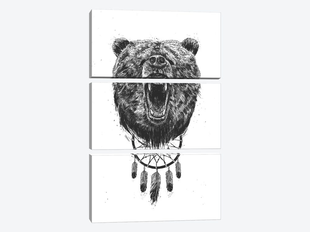 Don't Wake The Bear by Balazs Solti 3-piece Canvas Wall Art