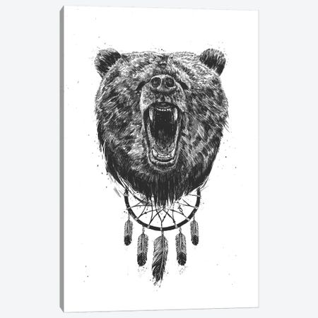 Don't Wake The Bear Canvas Print #BSI114} by Balazs Solti Art Print