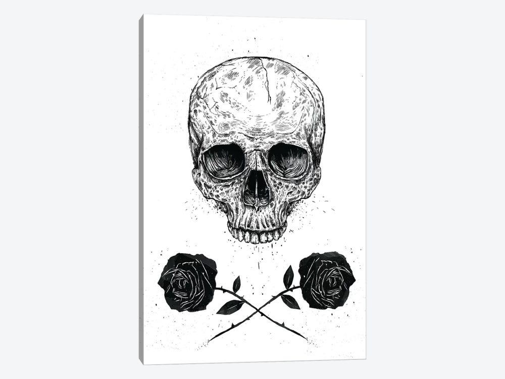 Skull 'n' Roses by Balazs Solti 1-piece Art Print