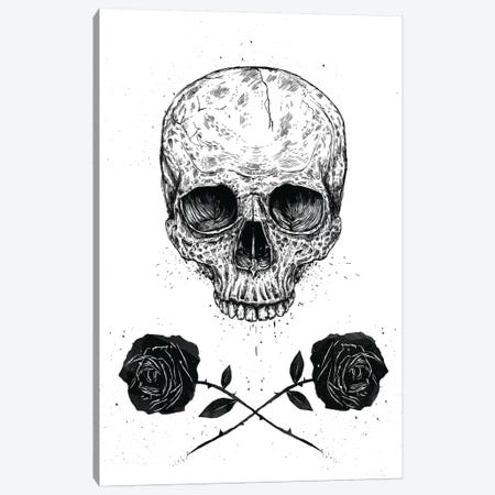 Skull 'n' Roses Canvas Print #BSI119} by Balazs Solti Canvas Artwork