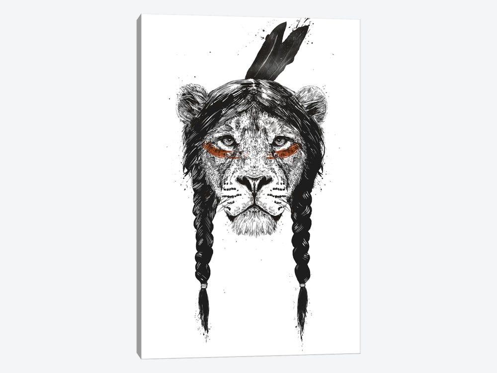 Warrior Lion by Balazs Solti 1-piece Canvas Print