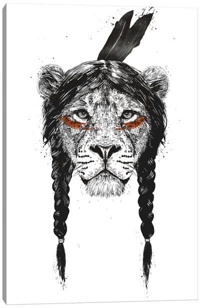 Warrior Lion Canvas Art Print