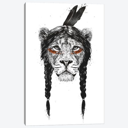 Warrior Lion Canvas Print #BSI120} by Balazs Solti Canvas Art Print