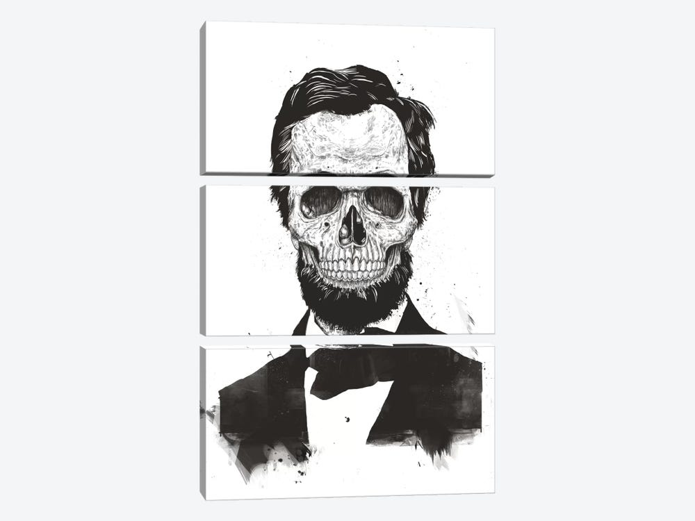 Dead Lincoln  by Balazs Solti 3-piece Canvas Art Print