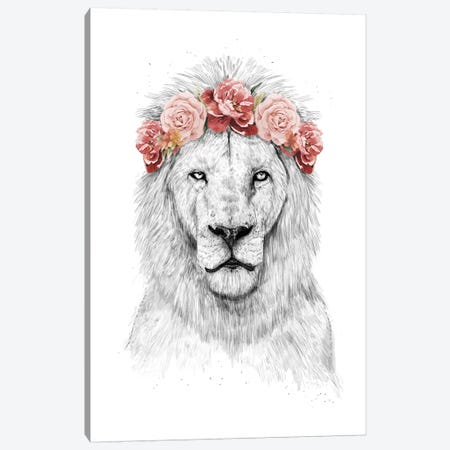 Festival Lion Canvas Print #BSI126} by Balazs Solti Canvas Art