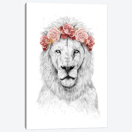 Festival Lion 3-Piece Canvas #BSI126} by Balazs Solti Canvas Art