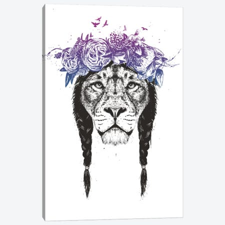 King Of The Jungle Canvas Print #BSI127} by Balazs Solti Canvas Wall Art