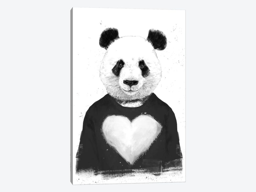 Lovely Panda by Balazs Solti 1-piece Canvas Art Print