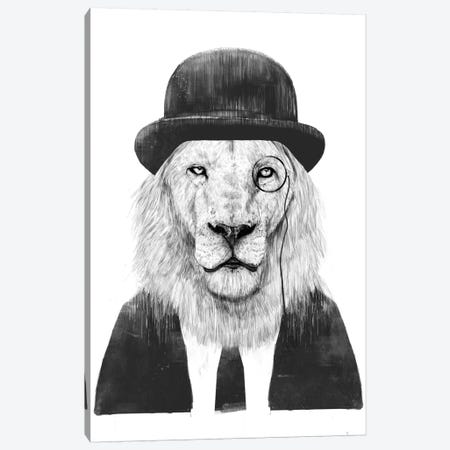 Sir Lion Canvas Print #BSI132} by Balazs Solti Canvas Artwork