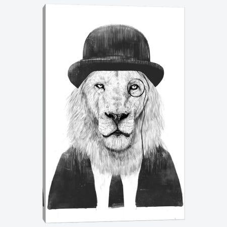 Sir Lion Canvas Print #BSI132} by Balazs Solti Canvas Artwork