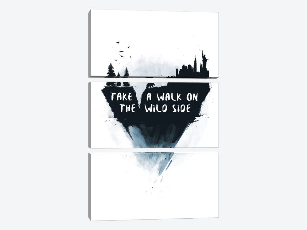 Take A Walk On The Wild Side by Balazs Solti 3-piece Canvas Artwork