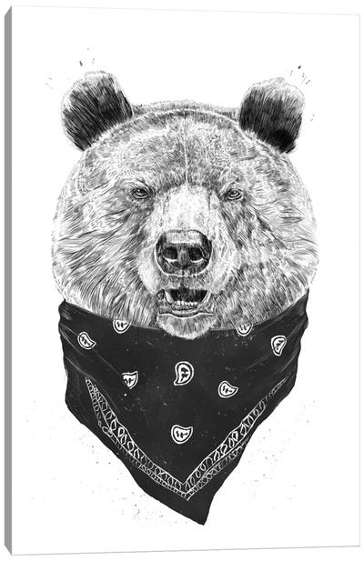 Wild Bear Canvas Art Print