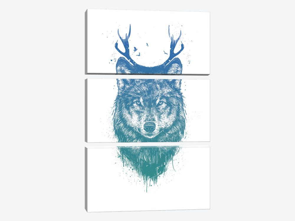 I'm Your Deer by Balazs Solti 3-piece Canvas Art Print